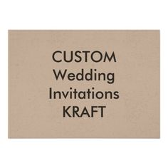"KRAFT 100lb 7"" x 5"" Wedding Invitations"