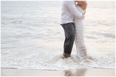 Engagement pose.... love when they get in the water!