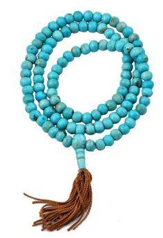 Turquoise Blue Yak Bone Prayer Beads 108 Beads Necklace Tibetan Malas: http://www.amazon.com/Turquoise-Prayer-Beads-Necklace-Tibetan/dp/B0072PG460/?tag=greavidesto05-20