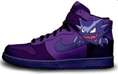pokemon shoes | Pokemon Gengar Nike Dunks Purple Anime Shoes | Themed Shoes For Sale