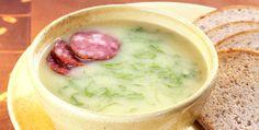 Receita de sopa de fubá com couve