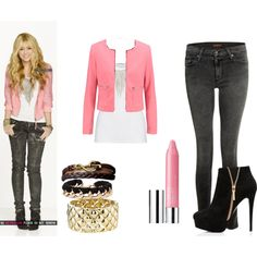outfit hannah montana by krisly-222 on Polyvore featuring moda, American Vintage, New Look, James Jeans, Forever New, 2b bebe and Clinique