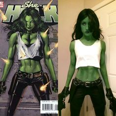 Badass She-Hulk cosplay by Chelsea Reese! (Real muscle courtesy of bodybuilding) #marvel & DIY Hulk Costume | Pinterest | DIY Halloween Halloween costumes and ...