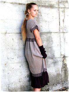 3801f2882130 Abito etnico Solange  vestito  abito di  maglia lavorato mano in  Peru con