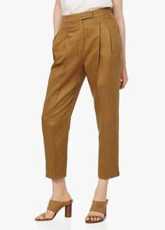 Premium - pantalón baggy tejido soft | MANGO