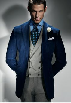 Nice look Sharp Dressed Man, Well Dressed Men, Men's Fashion, Groom Fashion, Fashion Suits, Double Breasted Waistcoat, Masculine Style, Suit And Tie, Sports Jacket