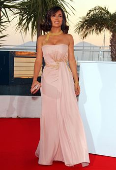 evening pink dress salma hayek