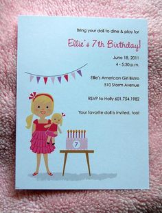 """Photo 1 of 18: American Girl / Birthday """"Ellie's American Girl Bistro"""" 