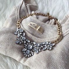 Beautiful necklace Beautiful Crystal statement necklace  from Jcrew factory J. Crew Jewelry Necklaces