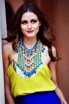 Bright statement jewellery is also a feature that is here to stay. #fashionconvo