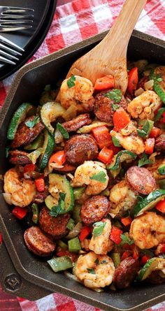 Low-Carb Dinners: 20-Minute Shrimp and Sausage Skillet