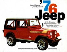Sunday, May 18, 2014- 1976 Jeep Of Canada Lineup Brochure