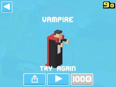 Just unlocked Vampire! #crossyroad