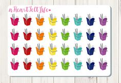 Take Out Food Planner Stickers Erin Condren by aHeartFeltLife