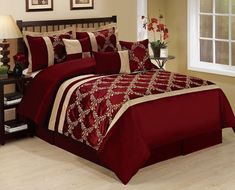 Burgundy U0026 Gold Comforter | Home Decor, Furnishings, Home Designs....... |  Pinterest | Gold Comforter, Comforter And Bedrooms