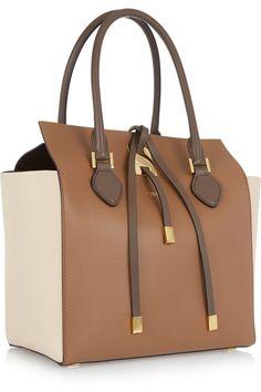 Michael Kors|Miranda medium color-block leather tote|NET-A-PORTER.COM
