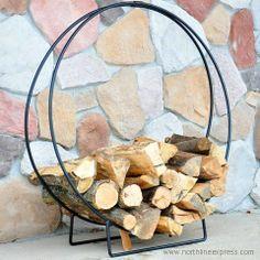 36'' Wrought Iron Hoop Firewood Rack