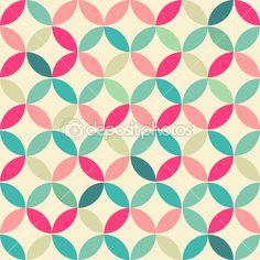 abstrato retrô sem costura redondo padrão geométrico. ilustração vetorial