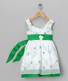 Take a look at this Green Rosy Dress - Toddler & Girls by 3 Angels Clothing on #zulily today!