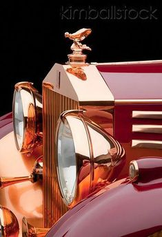 1937 Rolls-Royce Phantom III Freestone & Webb Sedanca Red And Copper Front Detail In Studio - -ℛℰ℘i ℕnℰD by Averson Automotive Group LLC Rolls Royce Phantom, Bentley Rolls Royce, Rolls Royce Cars, Rolls Royse, Dream Cars, Vintage Cars, Antique Cars, Classic Rolls Royce, Automobile