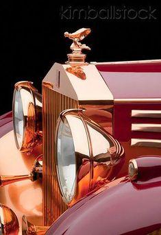 1937 Rolls-Royce Phantom III Freestone & Webb Sedanca Red And Copper Front Detail In Studio - #RollsRoyceClassicCars