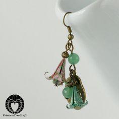 Mini Origami Earrings Origami Jewelry Pastel by PrincessTreeCraft, $35.00