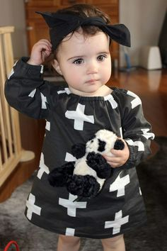 Image of Charlotte Smock Dress in *Limited Edition* Monochrome Swiss Cross PRE-ORDER. April and the Olive Pip Inspiration For Kids, Style Inspiration, Smock Dress, Colorful Fashion, Smocking, All Things, Monochrome, Charlotte, Dresses