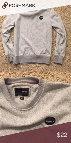 Hurley Crew Neck Sweatshirt Men's small and women's medium/large. Cute relaxed fit and in great shape. Hurley Tops Sweatshirts & Hoodies