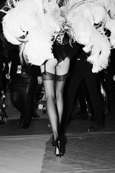 I will never look like a VS model, but it is good inspiration!     Wings of desire on the VS stage.  Pic by Russell James.