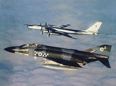 "43 Sqn RAF Phantom ""Bravo"" Intercepts a Tu 95 ""Bear Delta"""