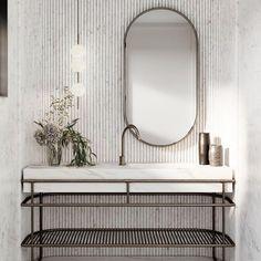 Marble Tiles, Carrara Marble, Beautiful Bathrooms, Modern Bathroom, Bathroom Inspo, Downstairs Bathroom, Large Art, Powder Room, Rustic