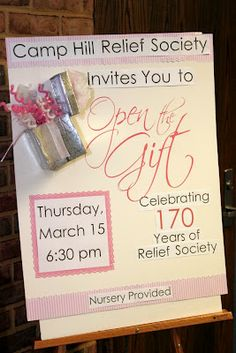 We just had our Relief Society Birthday Celebration. It was wonderful! I got to plan, decorate and serve fancy food. I was in heav. Enrichment Activities, Church Activities, Birthday Celebration, Birthday Parties, Birthday Ideas, Birthday Crafts, Birthday Bash, Relief Society Activities, Birthday Activities