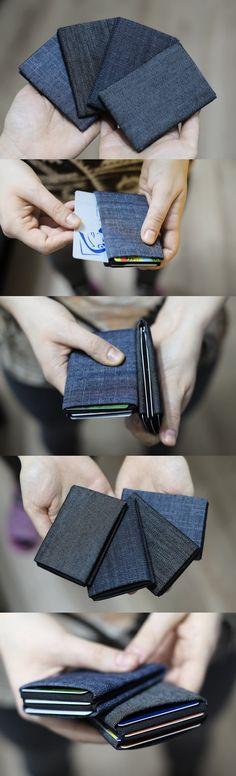 Vegan WalletRFID Wallet Minimalist WalletDenim Wallet