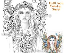 Fairy Dragon Queen Fairy Tangles Coloring Sheet by FairyTangleArt