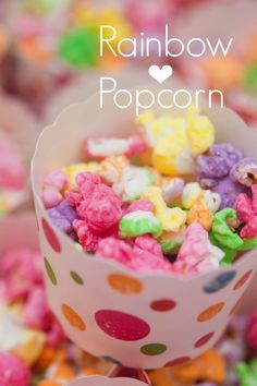 Rainbow Popcorn Recipe...you could use kettle corn for an even tastier rainbow!