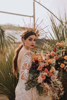 A Bold Luscious Bridal Styled Shoot with Rue De Seine Dresses Wedding Dresses Photos, Wedding Pics, Wedding Shoot, Dream Wedding, Wedding Makeup, Wedding Ideas, Festival Dress, Bridal Shoot, Queen