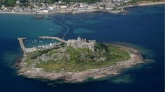 St Michaels Mount from above, Cornwall