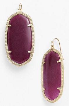 Loving these maroon Kendra Scott earrings!