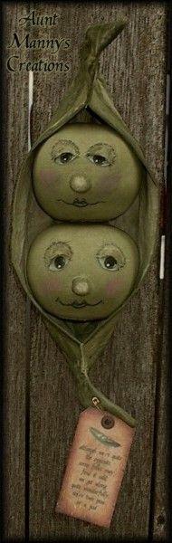 Primitive Two Peas In A Pod Doll Pattern
