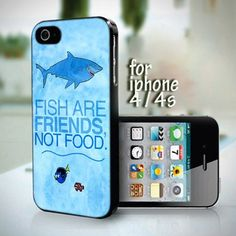 Finding Nemo Fish Are Friends, Not Food design for iPhone 4 or 4s case
