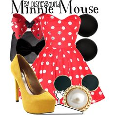 DISNEY Clothes Polyvore!    Minnie Mouse by lalakay, via Polyvore