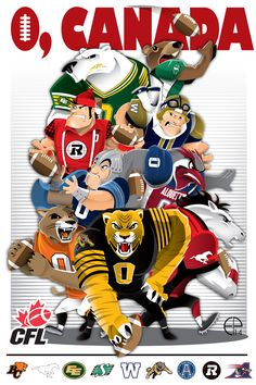 In honor of the Grey Cup… Football Art, Vintage Football, Football Helmets, Collage Football, Football Players, Canadian Football League, American Football, Ottawa Redblacks, Winnipeg Blue Bombers