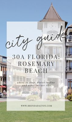 City guide on where to stay, play, and eat gluten-free in Rosemary Beach, Florida on 30A's Gulf Coast. The best insider tips for visiting Rosemary Beach.