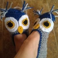 Looking for crocheting project inspiration? Check out Ladies Owl Slippers by member Suzi44.