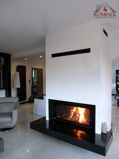 #Fireplace in a modern style with fireplace insert #BeF Home Trend V12. Kominek w stylu nowoczesnym z zabudowanym wkładem kominkowym BeF Homme Trend V12