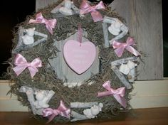 Kransen on pinterest hydrangea wreath crab apples and diaper babies - Deco slaapkamer baby meisje ...