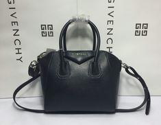 Givenchy Mini Antigona Tote Bag in Black Goat Leather     Real Bag e0d1b4b77d557