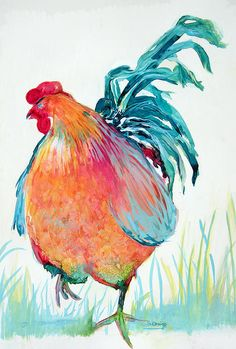 Rooster With An Attitude Canvas Print / Canvas Art by Shane Guinn