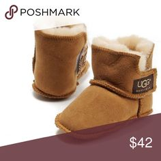 Baby Erin Ugg Booties Never worn. In box. Perfect condition. Chestnut colored. UGG Shoes Baby & Walker