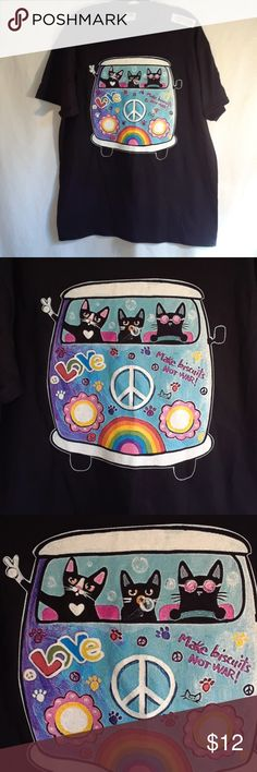 Cat Tee Shirt Unisex tee. Cats in VW Bus. New. Fruit of the Loom Tops Tees - Short Sleeve